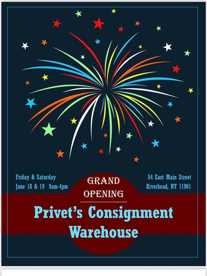 June 18th Privet's Consignment Warehouse GRAND OPENING!